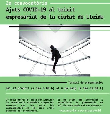 Demà divendres s'obre el termini per a sol·licitar 1'2 milions d'euros en ajuts al comerç, la restauració, els serveis i la venda no sedentària, a Lleida