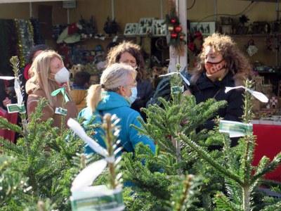 El Mercat de Nadal de Santa Llúcia s'instal·la a la zona d'aparcament de davant de l'Auditori