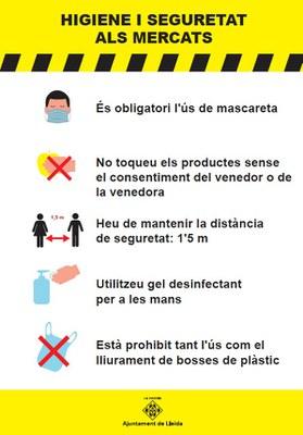 Els mercats ambulants de Lleida incideixen en les mesures de seguretat i higiene