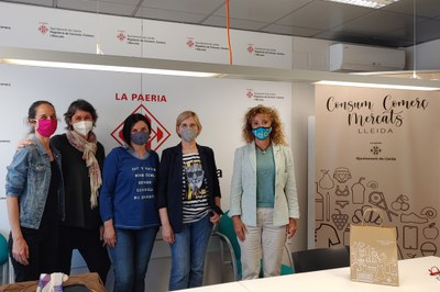 La regidora Gispert es reuneix amb la nova junta de l'Associació Slow Shop Lleida