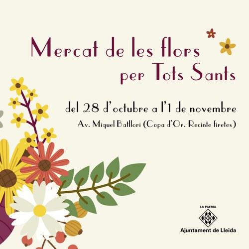 Imatge de la notícia Mercat de flors per Tots Sants del 28 d'octubre a l'1 de novembre