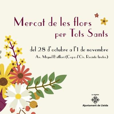 Mercat de flors per Tots Sants del 28 d'octubre a l'1 de novembre